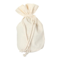Cottton bag with bottom - small -  ca. 165 x 125 mm - oval - cotton