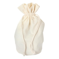 Cottton bag with bottom - large -  ca. 215 x 155 mm - oval - cotton