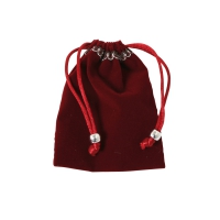 Velvet fabric bags - ca 100 x 75 mm - bordeaux - red