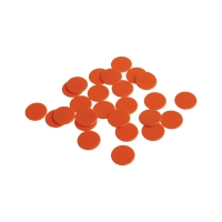 Spielchips - 22 mm - orange - matt