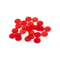 playing chips - gaming token - 16 mm - red - transparent