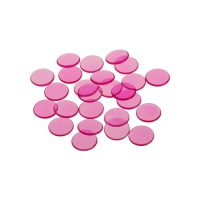 Spielchips - 16 mm - rosa - transparent