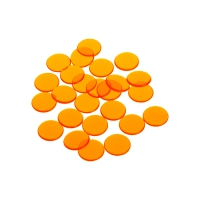 playing chips - gaming token - 16 mm - orange - transparent