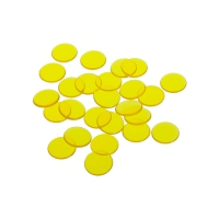playing chips - gaming token - 16 mm - yellow - transparent