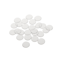 playing chips - gaming token - 16 mm - white - transparent
