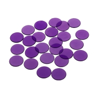 playing chips - gaming token - 22 mm - purple - transparent