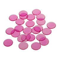 playing chips - gaming token - 22 mm - pink - transparent