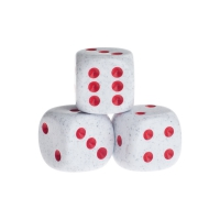 Dice - springfield - red - plastic - 16 mm