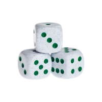 Dice - springfield - green - plastic - 16 mm