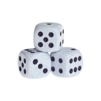 Dice - springfield - black - plastic - 16 mm
