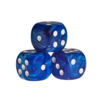 Dice - dublin - blue - plastic - 16 mm