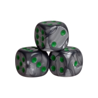 Dice - london - green - plastic - 16 mm