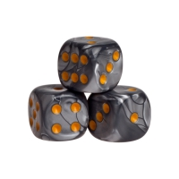Dice - london - orange - plastic - 16 mm