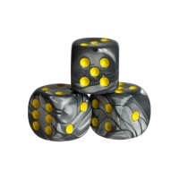 Dice - london - yellow - plastic - 16 mm