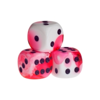 Dice - Berlin - red - plastic - 16 mm