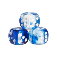Dice - Wien - blue - plastic - 16 mm