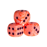 Dice - New-Delhi - orange - plastic - 16 mm