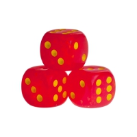 Dice - Las Vegas - red - plastic - 16 mm
