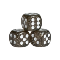 Dice - Peking - black - plastic - 16 mm