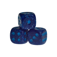 Dice - Las Vegas - blue - plastic - 16 mm