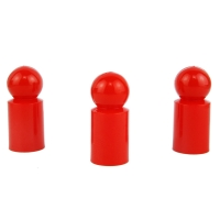 Chinese checkers pieces - Meeple - plastic - red - 13 x 30 mm