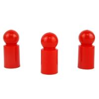 Destino Halmakegel - Pöppel - Kunststoff - rot - 13 x 30 mm