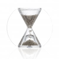 Hourglass - HEAVY METAL - silver - 3 minutes