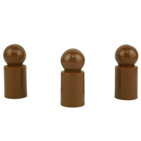 Chinese checkers pieces - Meeple - plastic - brown - 13 x 30 mm
