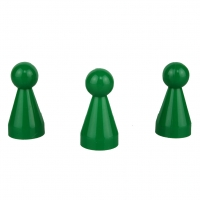 Chinese checkers pieces - Meeple - green - KS - 20 x 40 mm