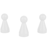 Chinese checkers pieces - Meeple - white - KS - 20 x 40 mm