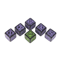 Hordes Legion of Everblight Dice - black and purple - 6 pieces