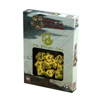 Legend of the Five Rings - Dragon Clan Dice Set - light yellow - 10 pieces