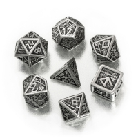 Dwarven Dice Set BOX Metal  - 7 pieces