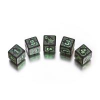 Pathfinder Kingmaker Würfel-Set 7 Stück grün und silver