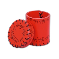 Elven Leather Cup - red