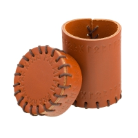 Runic Leather Cup - brown