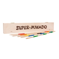 Super-Mikado - Pick-up sticks  - 46 cm - in a wooden box