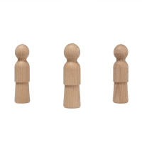Wood Cone - wooden figures - turned and oiled - 10 cm