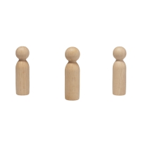 Wood Cone - wooden figures - turned and oiled - 7 cm