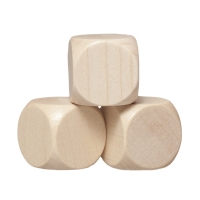 Blank Dice (6) - maple - wooden - 30 mm