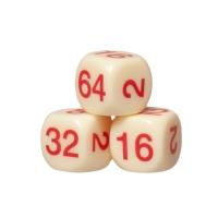 Dopplerwürfel - Kunststoff - Backgammon - Zubehör