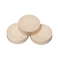 Playing pieces - circular - wood - natural - 28 mm