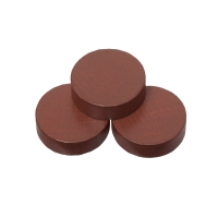 Playing pieces - circular - wood - brown - 23 x 6 mm