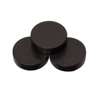 Playing pieces - circular - wood - black - 31 x 8 mm