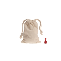 Cotton bag with cord - small - about 135 x 95 mm - 100% cotton