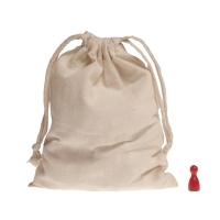 Cotton bag with cord - large - about 190 x 160 mm - 100% cotton
