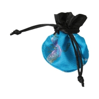 Silk optic - small bags -  ca. 75 x 70 mm - oval - Polyester