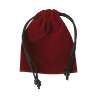velvet fabric bags -  ca. 85 x 70 mm - long - velvet fabric