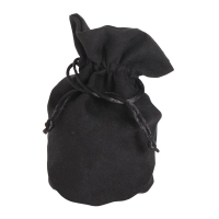 Velour bag with bottom -small -  ca. 165 x 125 mm - oval - suede