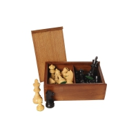 Chessmen black and natural - king size 95 mm